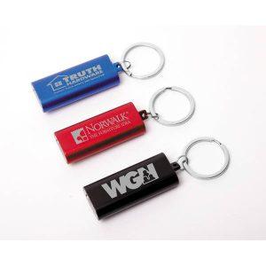 Porte-clés ultra mince en aluminium avec 3 lumières DEL | Jobox Media