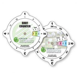 Calculateurs à roulettes impression spéciale en plastique vinyle blanc luisant .020 / Golf Impression numérique   Jobox Media