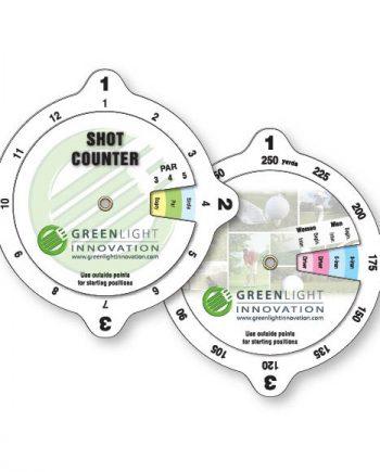 Calculateurs à roulettes impression spéciale en plastique vinyle blanc luisant .020 / Golf Impression numérique | Jobox Media