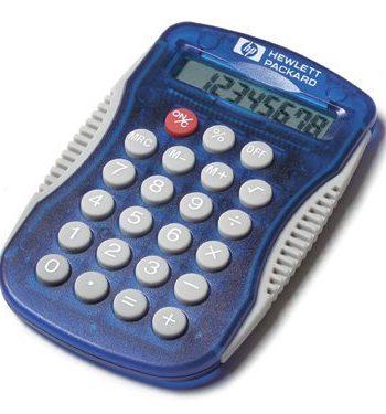 Calculatrice avec bordures de caoutchouc | Jobox Media