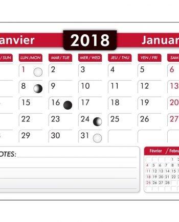 Blocs de calendriers de 12 pages | Jobox Media