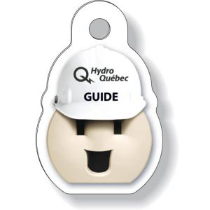 Porte-clés formes spéciales en plastique blanc .030 / avec placage compressé des deux côtés Quadrichromie à l'avant / noir à l'endos | Jobox Media