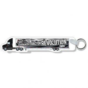 Porte-clés formes spéciales en plastique blanc .030 / avec placage compressé des deux côtés Quadrichromie à l'avant / impression en | Jobox Media