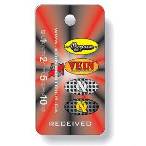 Porte-clés en plastique blanc .030 Quadrichromie à l'avant / noir à l'endos | Jobox Media