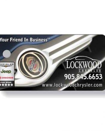 Porte-clés En Plastique .030 Quadrichromie à l'avant / noir à l'endos | Jobox Media