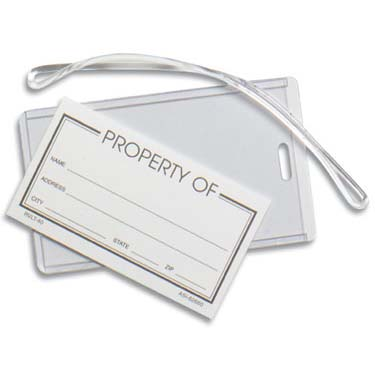 Plastic Luggage Tags | Jobox Media