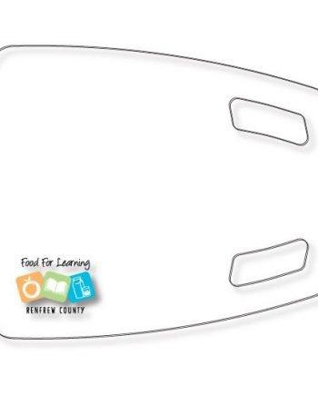 Planche à découper en plastique flexible claire texturé .045 rectangulaire impression sous-surface QUAD haute résolution   Jobox Media
