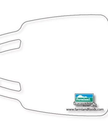 Planche à découper en plastique flexible claire texturé .045