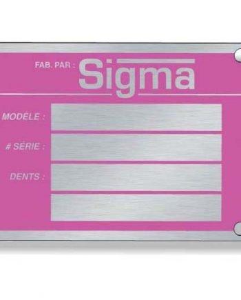 .020 Plaques en métal en aluminium anodisé scellé / rectangle avec coins carrés Sérigraphiés | Jobox Media